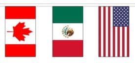 2022 World Cup Canada Mexico & United States of America USA Hosts 5m Flag Bunting