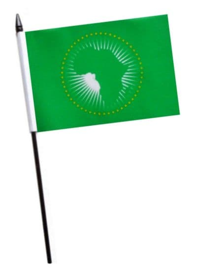 African Union Small Hand Waving Flag