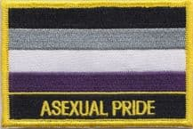 Asexual Ace Pride Embroidered Rectangular Patch