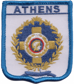 Athens Greece Shield Embroidered Patch (a329)