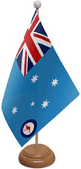 AUSTRALIA MILITARY TABLE FLAGS WITH WOOD BASE