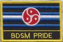 BDSM Pride Embroidered Rectangular Patch