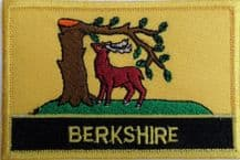 Berkshire Flag Embroidered Rectangular Patch