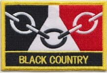 Black Country Region Flag Embroidered Rectangular Patch