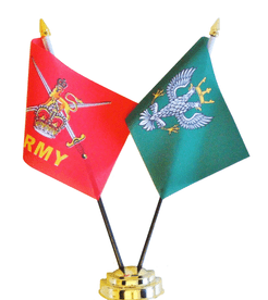 British Army and Mercian Regiment Friendship Table Flag