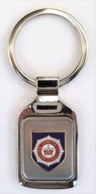 British Army Household Division Brushed Steel Key Fob - KM41