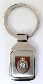 British Army Royal Northumberland Fusiliers Brushed Steel Key Fob - KM78