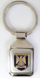 British Army The Royal Scots Dragoon Guards (Carabiniers and Greys) Brushed Steel Key Fob - KM60