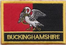 Buckinghamshire Flag Embroidered Rectangular Patch