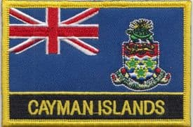 Cayman Islands Embroidered Rectangular Patch