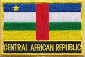Central African Republic Embroidered Rectangular Patch