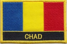 Chad Embroidered Rectangular Patch