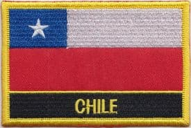 Chile Embroidered Rectangular Patch