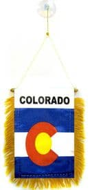 Colorado US State Hanging Car Flag Pennant