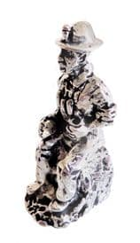 Cornish Tin Miner Eating His Pasty Pewter Ornament - Hand Made In Cornwall - SF39