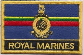 Corps of Royal Marines RM Royal Navy RN Ensign Flag Embroidered Patch