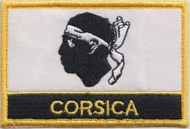 Corsica France Flag Embroidered Rectangular Patch Badge