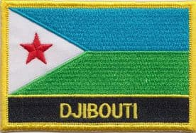 Djibouti Embroidered Rectangular Patch