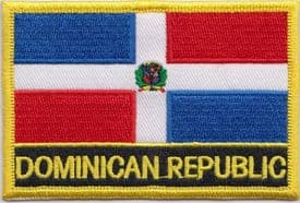 Dominican Republic Embroidered Rectangular Patch