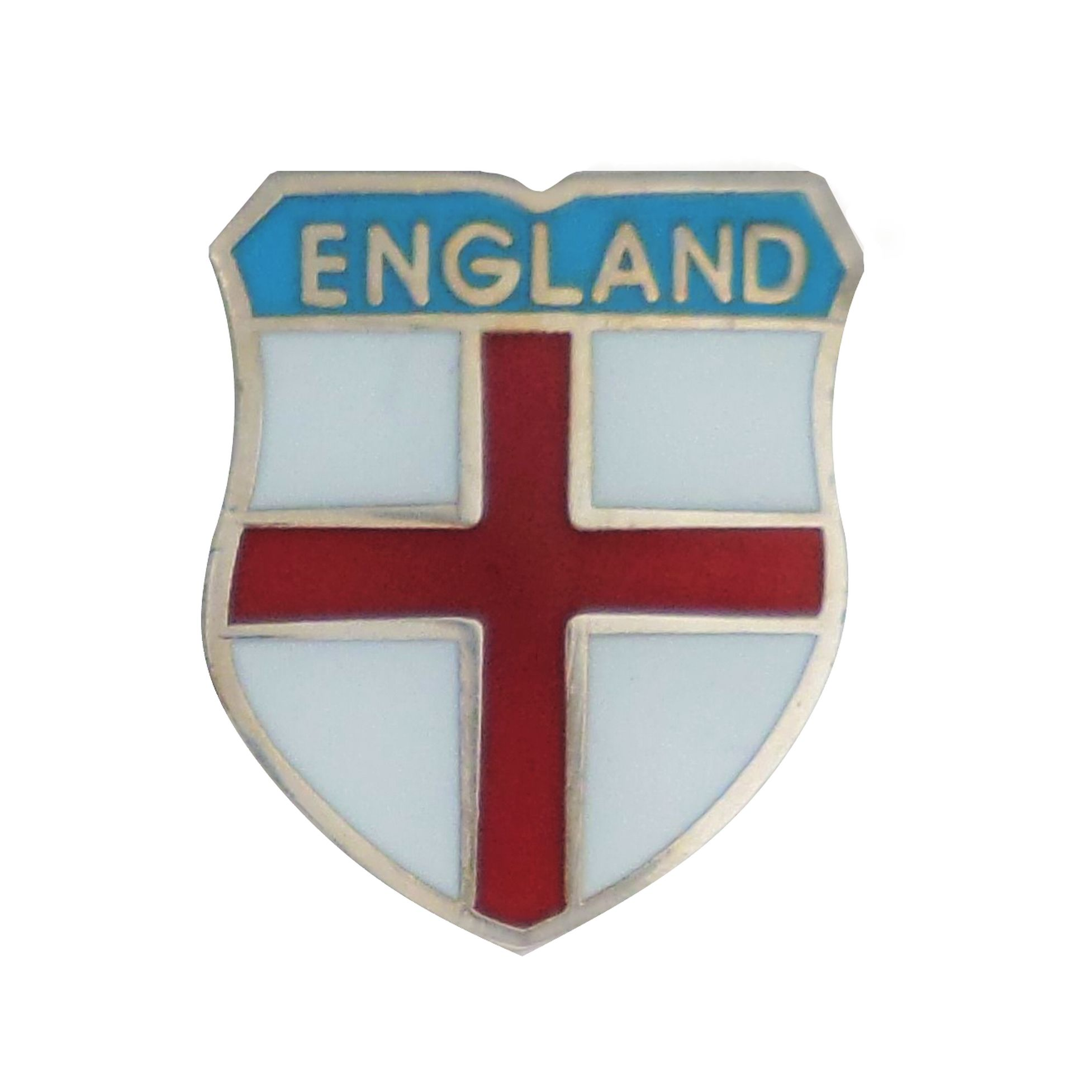 England St George Curved Shield Pin Badge