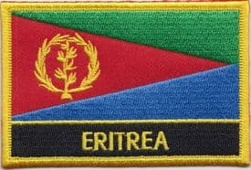 Eritrea Embroidered Rectangular Patch