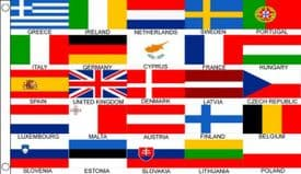 Eurovision Song Contest 25 Country 5'x3' (150cm x 90cm) Flag