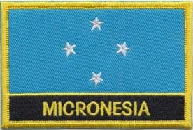 Federated States of Micronesia Embroidered Rectangular Patch