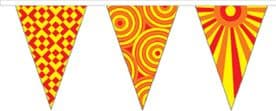 Festival Red and Yellow Superior Bunting 10m (32') Long With 24 Flags