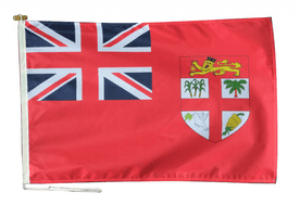 Fiji Red Ensign Flag With Rope and Toggle - Various Sizes