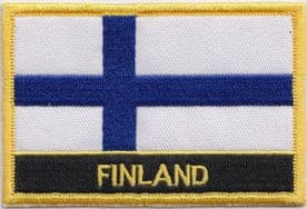 Finland Embroidered Rectangular Patch