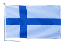 Finland Flag With Rope and Toggle - Various Sizes
