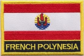 France French Polynesia Embroidered Rectangular Patch
