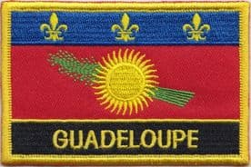 France Guadeloupe Unofficial Embroidered Rectangular Patch