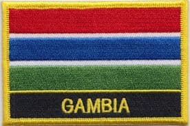 Gambia Embroidered Rectangular Patch