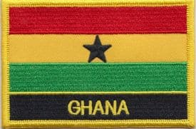 Ghana Embroidered Rectangular Patch