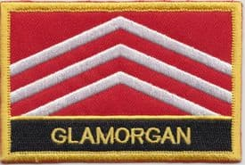 Glamorgan Morgannwg  Embroidered Rectangular Patch