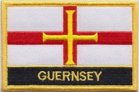 Guernsey Channel Islands Flag Embroidered Rectangular Patch