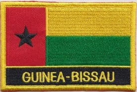 Guinea-Bissau  Embroidered Rectangular Patch