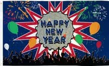 Happy New Year Party 5'x3' (150cm x 90cm) Flag