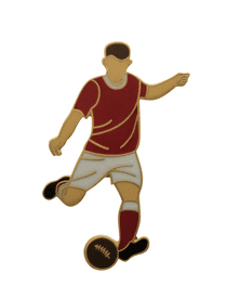 Heart of Midlothian Football Player Gold Plated Pin Badge
