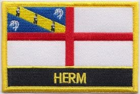 Herm Channel Islands Flag Embroidered Rectangular Patch