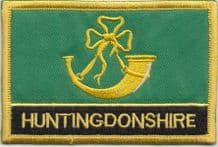 Huntingdonshire Flag Embroidered Rectangular Patch