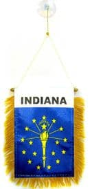 Indiana US State Hanging Car Flag Pennant