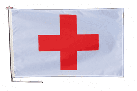 International Red Cross IRC Flag With Rope and Toggle - Various Sizes