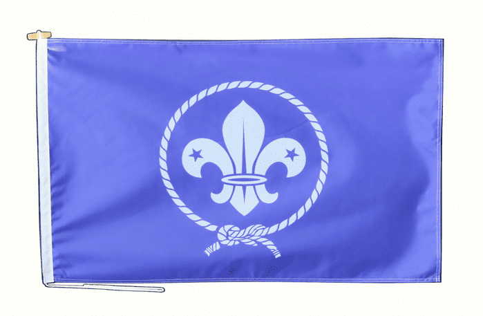 International Scouting Scout Movement Flag With Rope and Toggle - Various Sizes