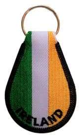 Ireland Embroidered Keyring - A262
