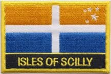 Isles of Scilly Flag Embroidered Rectangular Patch