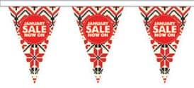 January Sale Style 1 Superior Bunting 10m (32') Long With 24 Flags