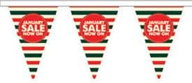 January Sale Style 3 Superior Bunting 10m (32') Long With 24 Flags