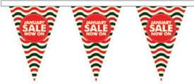 January Sale Style 4 Superior Bunting 10m (32') Long With 24 Flags